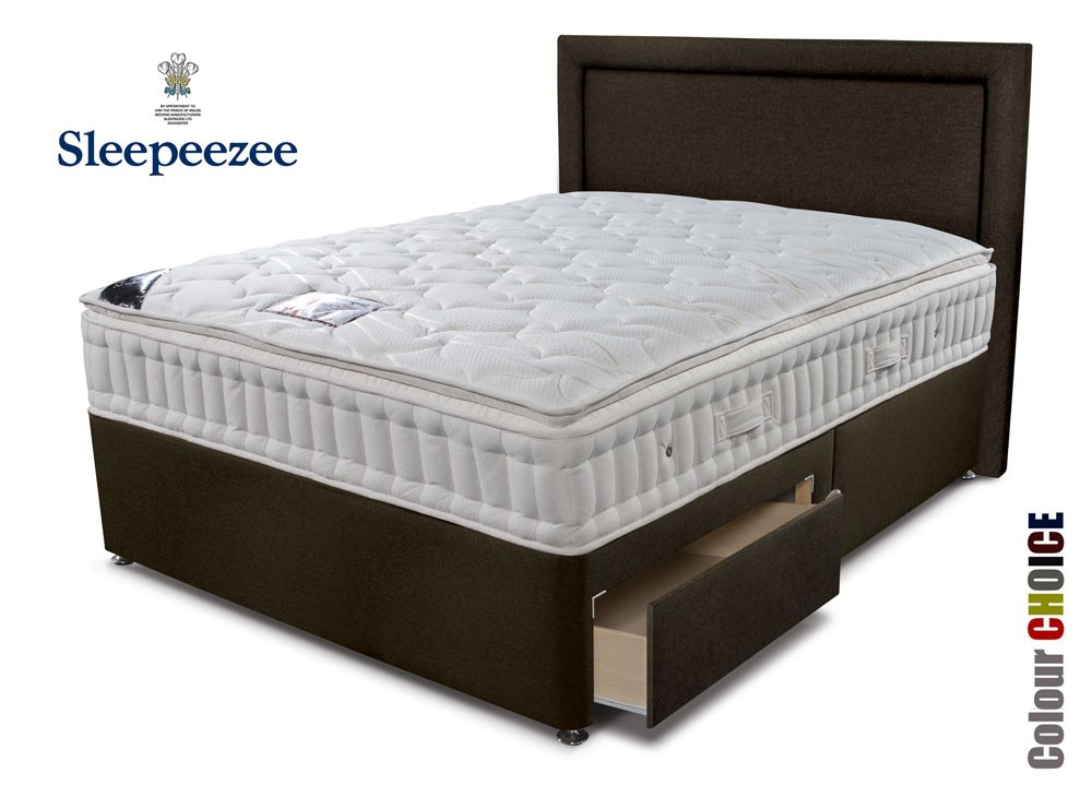 Sleepeezee backcare superior 1000 three quarter divan bed Three quarter divan bed