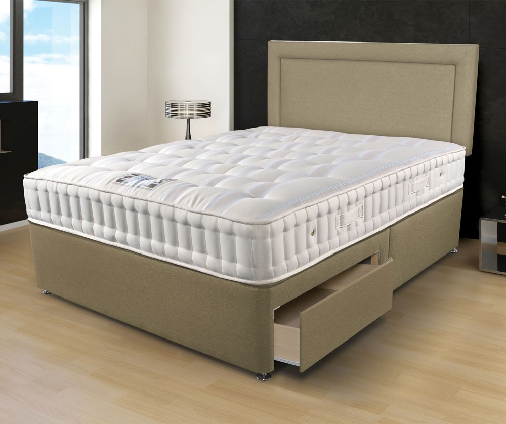 Sleepeezee naturelle 1400 super kingsize divan bed for Super king size divan bed with storage