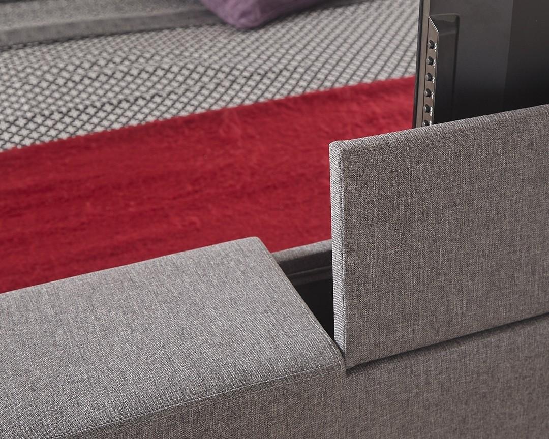 Nottingham Grey Double Tv Bed Frame