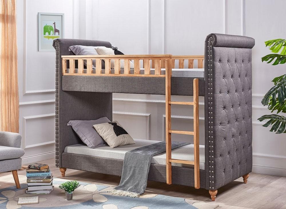 Leah Grey Fabric Bunk Bed