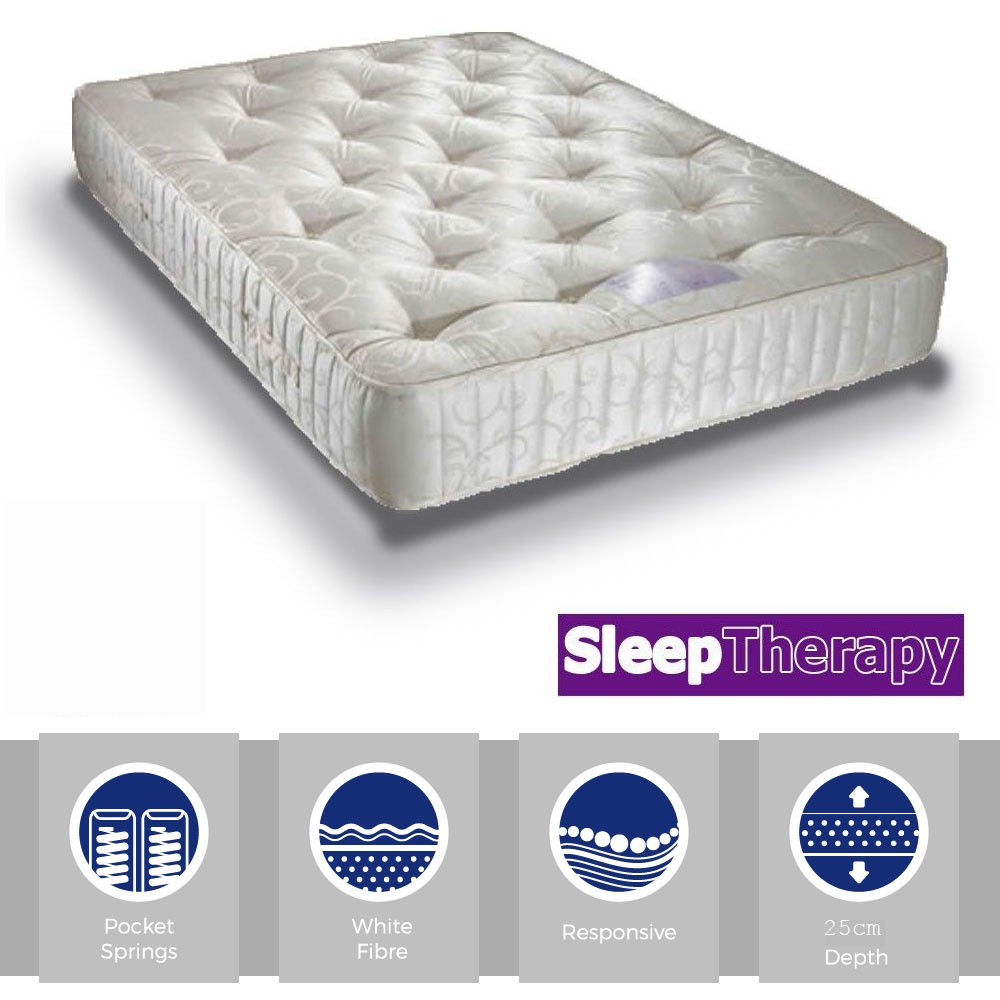 3 Quarter Bed Mattress Topper : Serenity pocket sprung three quarter mattress