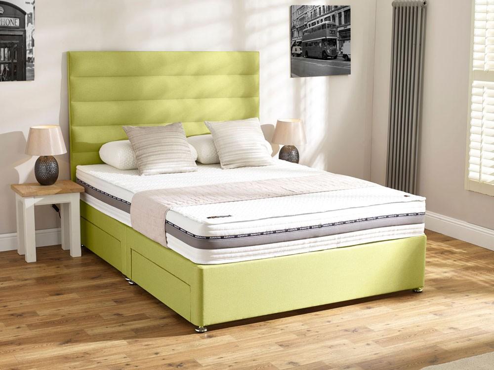 Mammoth performance pocket 1600 three quarter divan bed for The best divan beds