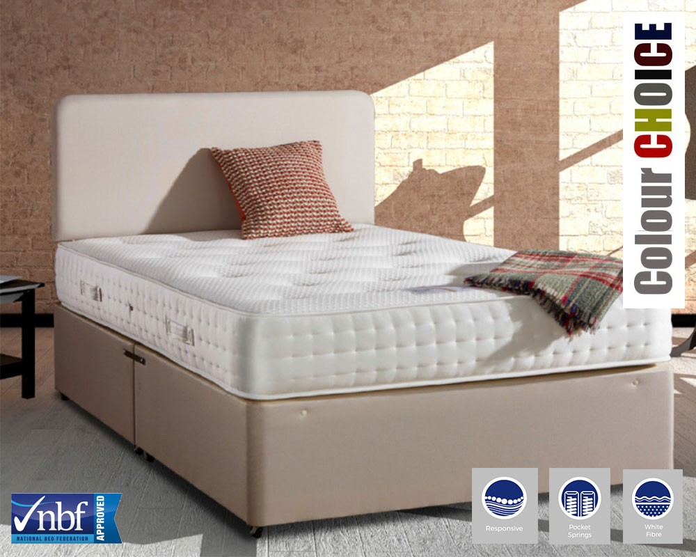Rafael 2000 deluxe kingsize divan bed for Divan direct