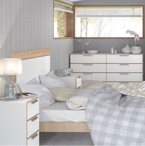 Oak Express Bedroom Furniture: Waterfall White And Oak 3 Drawer Bedside