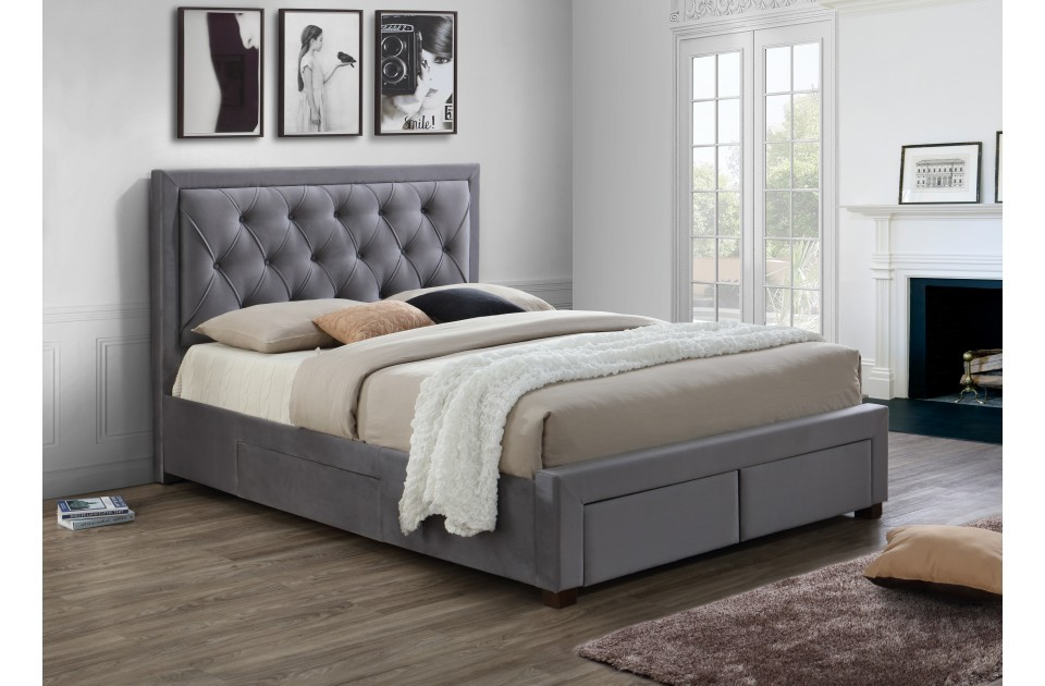 Woodleigh Grey Four Drawer Super Kingsize Bed Frame