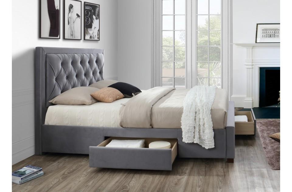 Woodleigh Grey Four Drawer Super Kingsize Bed Frame