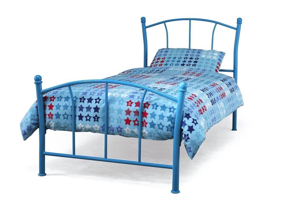 Penny Blue Single Bed Frame