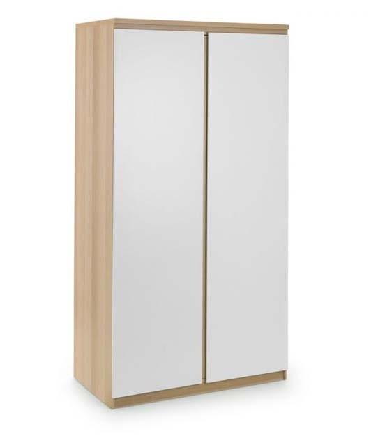Eternal White And Oak 2 Door Wardrobe