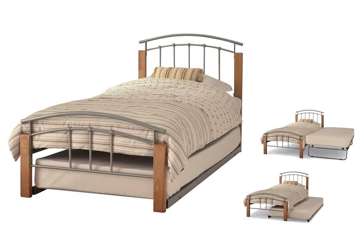 Tetras Silver & Beech Guest Bed Frame