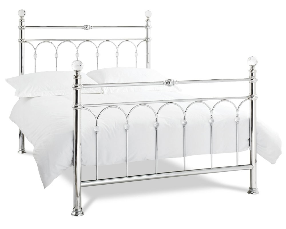 Bentley Designs Krystal Shiny Chrome Bed Frame