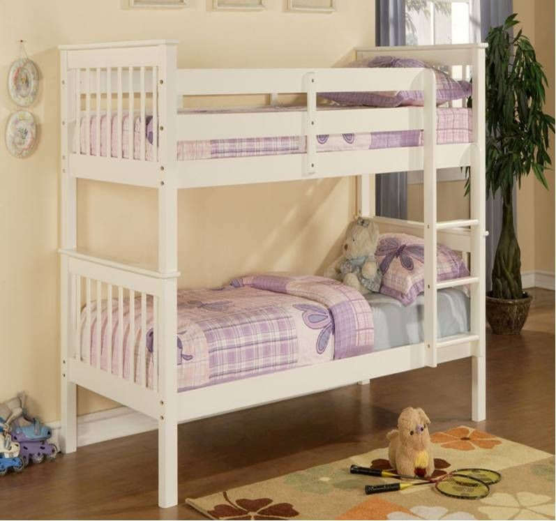 Pavoir White Bunk Bed