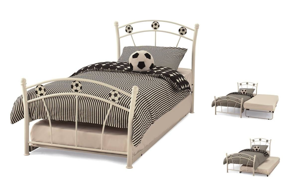 Soccer White Guest Bed Frame