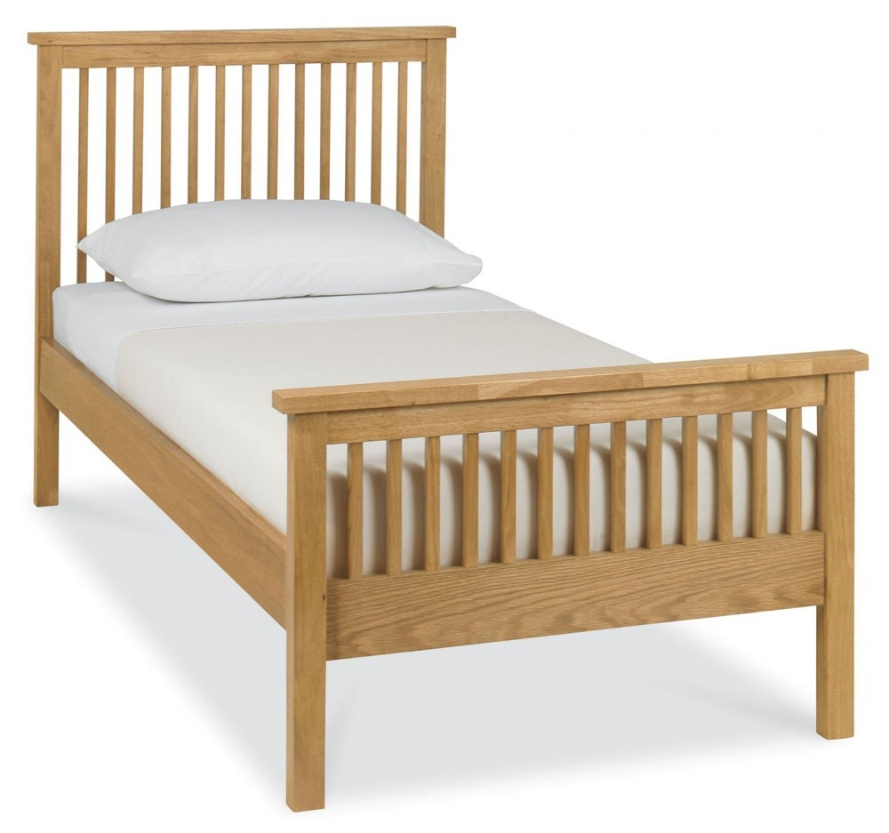 . Bentley Designs Atlanta Oak High Foot Single Bed Frame