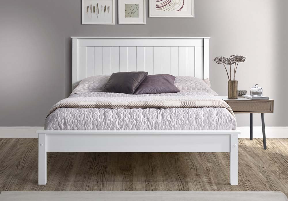 Taurean White Bed Frame