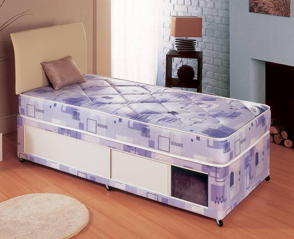Milan Single Slidestore Divan Bed