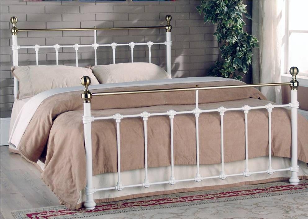 Tarvos White Kingsize Bed Frame