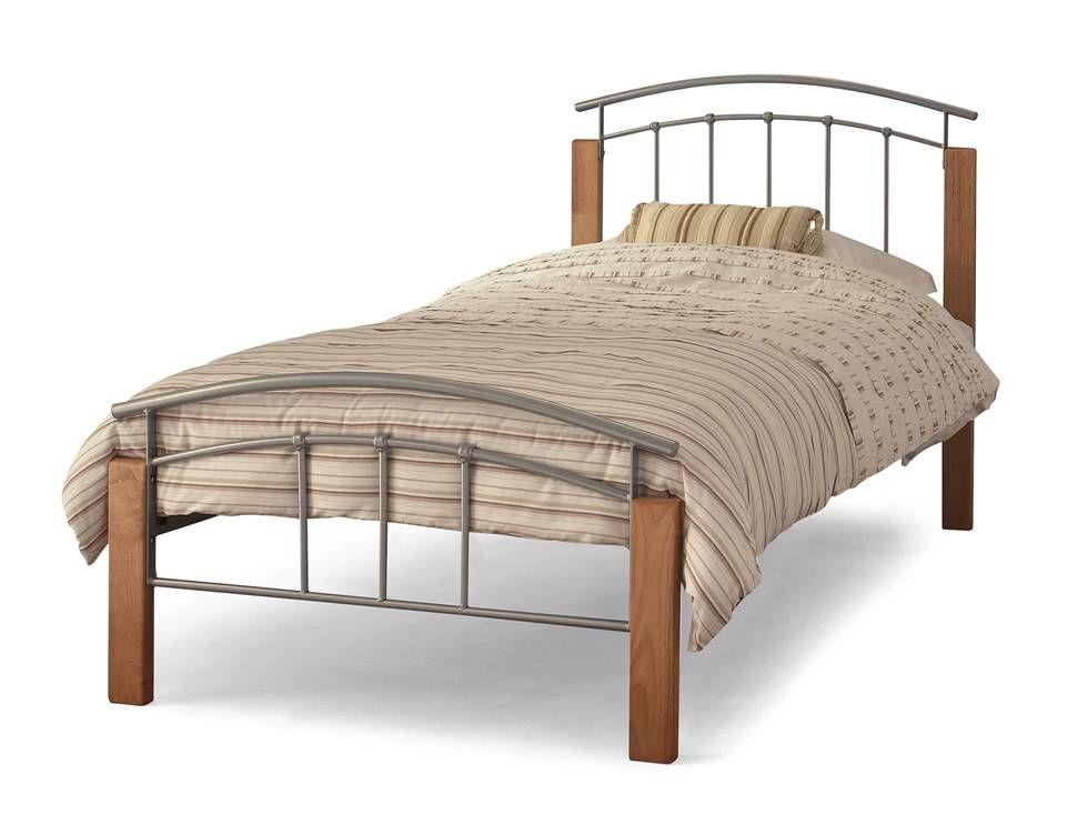 Tetras Silver Single Bed Frame