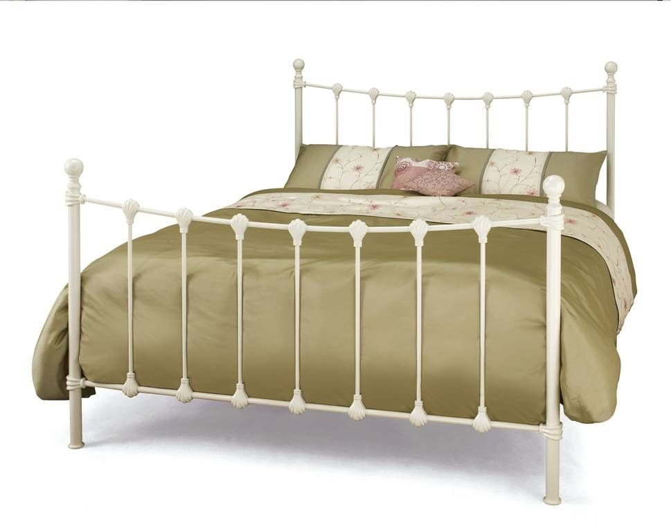 Marseilles Ivory Double Bed Frame