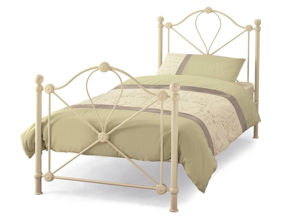Lyon Ivory Single Bed Frame