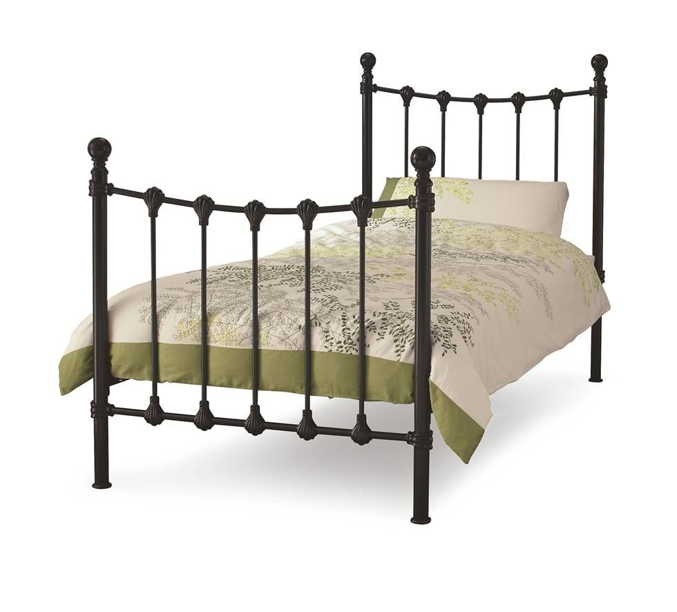 Marseilles Black Single Bed Frame
