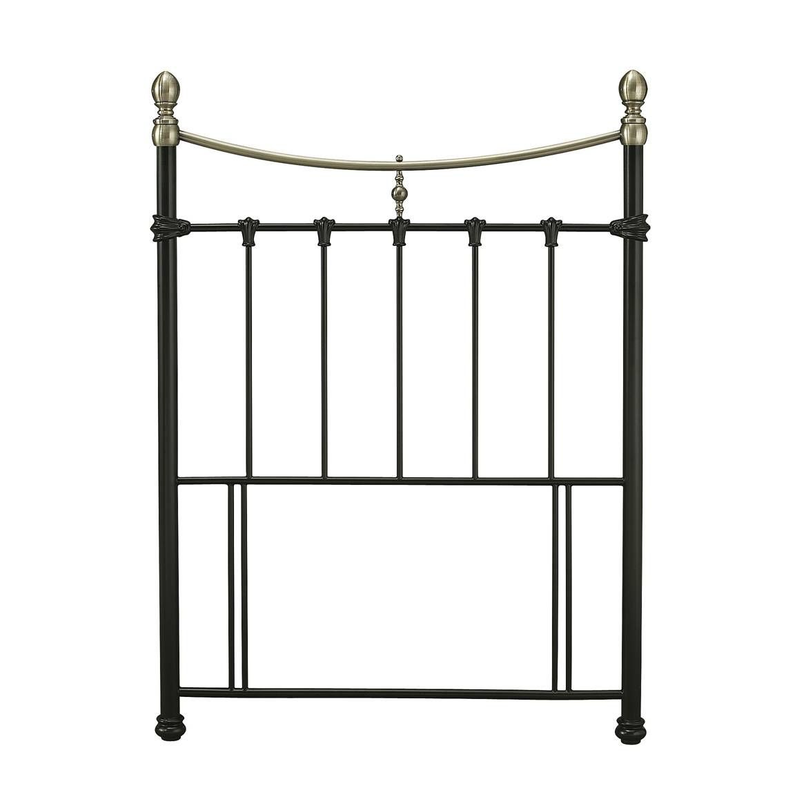 Edwardian 2 Black Single Headboard
