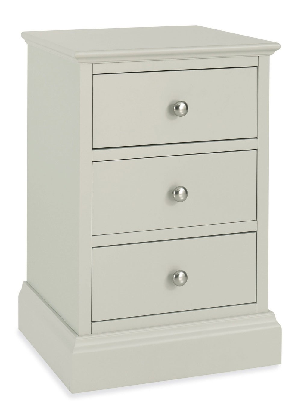 Ashenby Cotton 3 Drawer Bedside