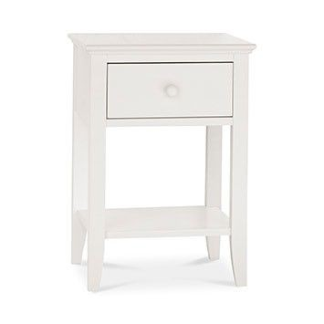 Ashenby White Nightstand