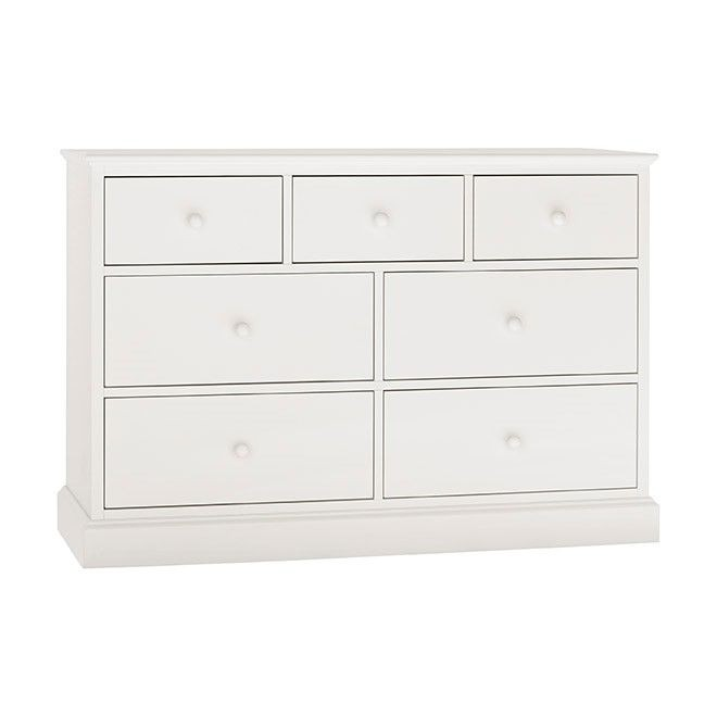 Ashenby White 3+4 Drawer Chest