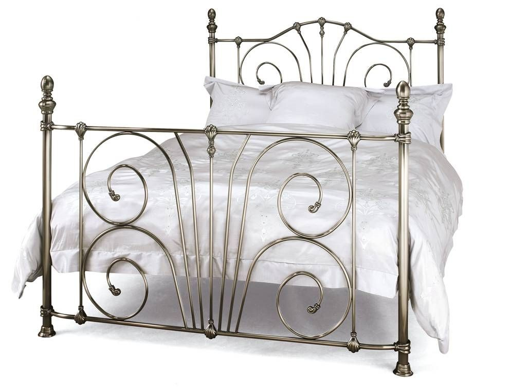 Jessica Nickel Kingsize Bed Frame