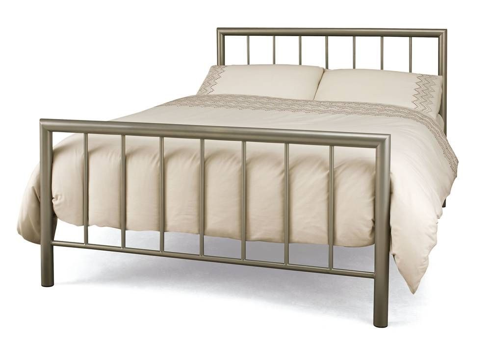 Modena Champagne Double Bed Frame