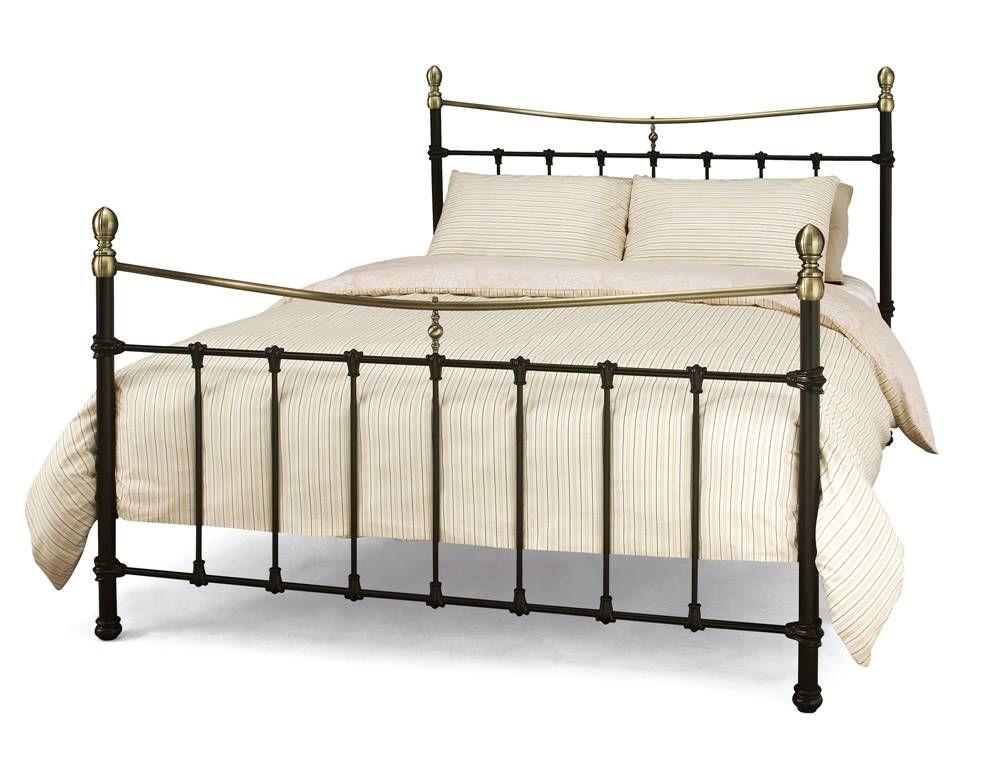 Edwardian 2 Black Double Bed Frame