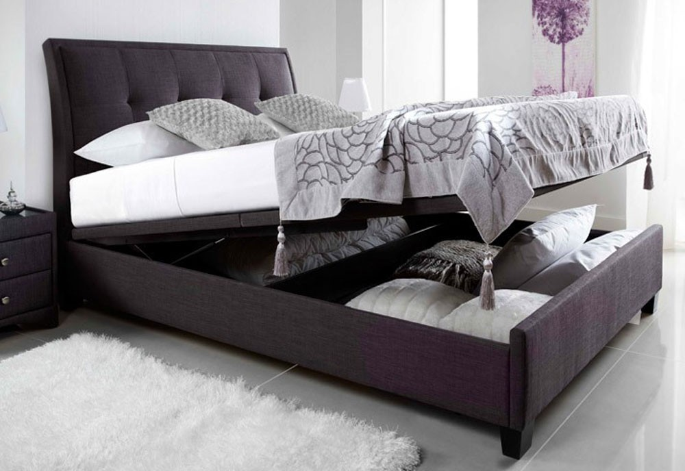 Acclaim Slate Double Ottoman Storage Bed Frame