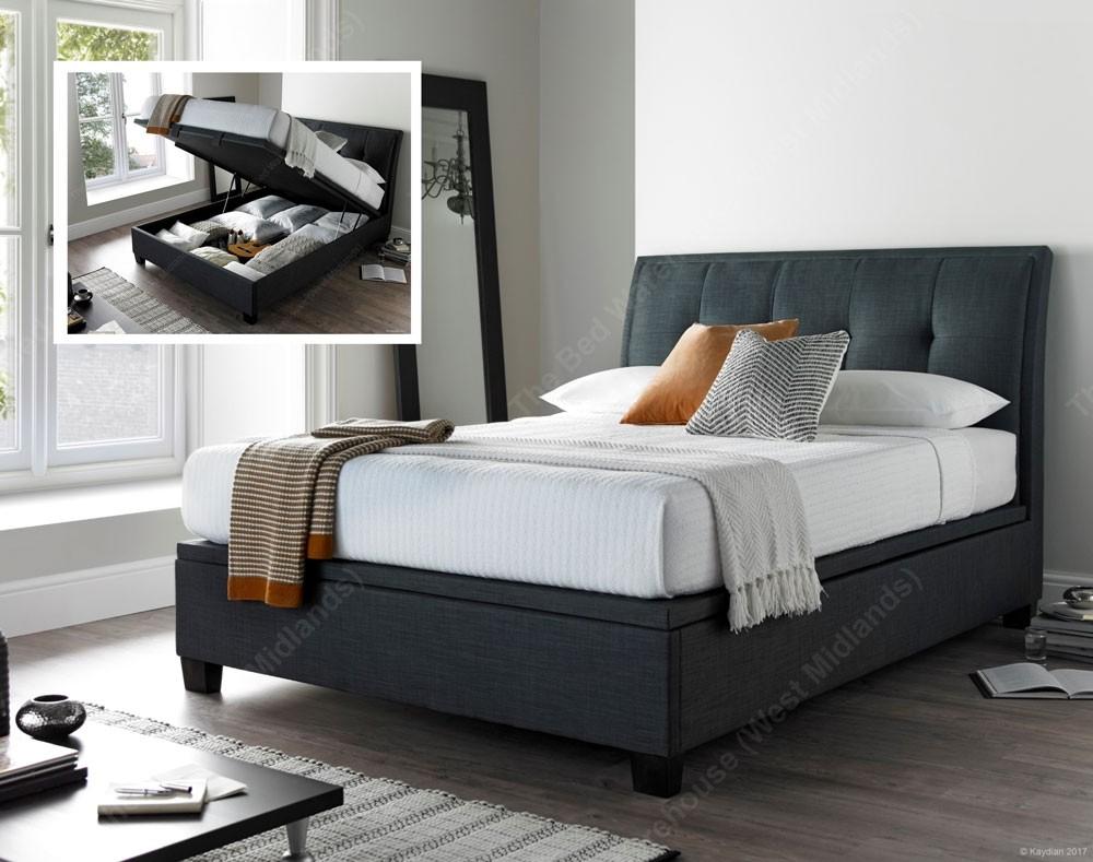 Acclaim Slate Ottoman Storage Bed Frame