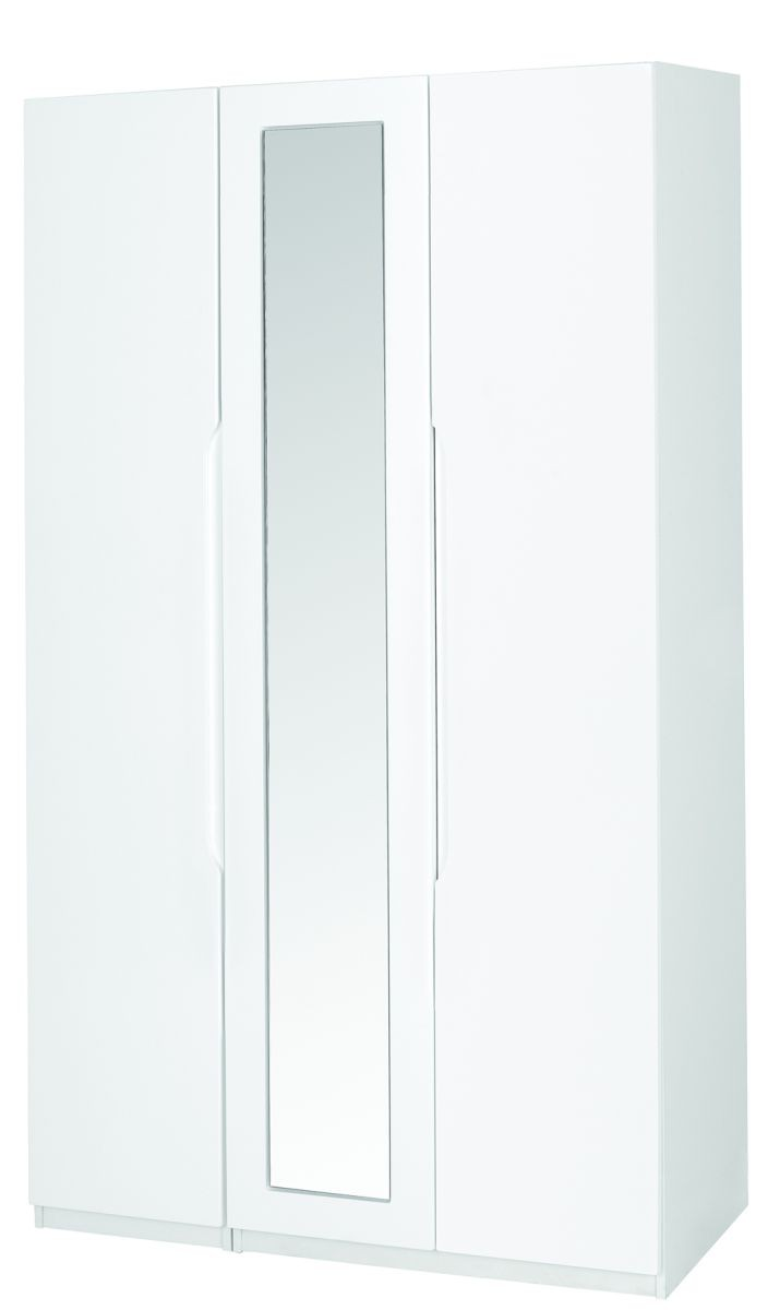 Alpine White Gloss Super Size 3 Door Robe With Mirror