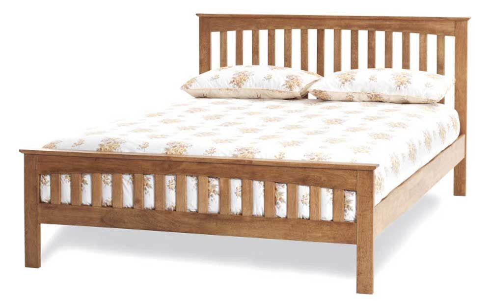 Emelia Honey Oak Double Bed Frame