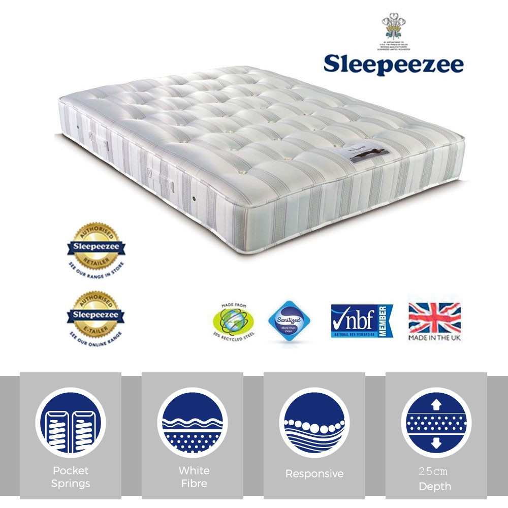 Sleepeezee Amethyst 1000 Three Quarter Mattress