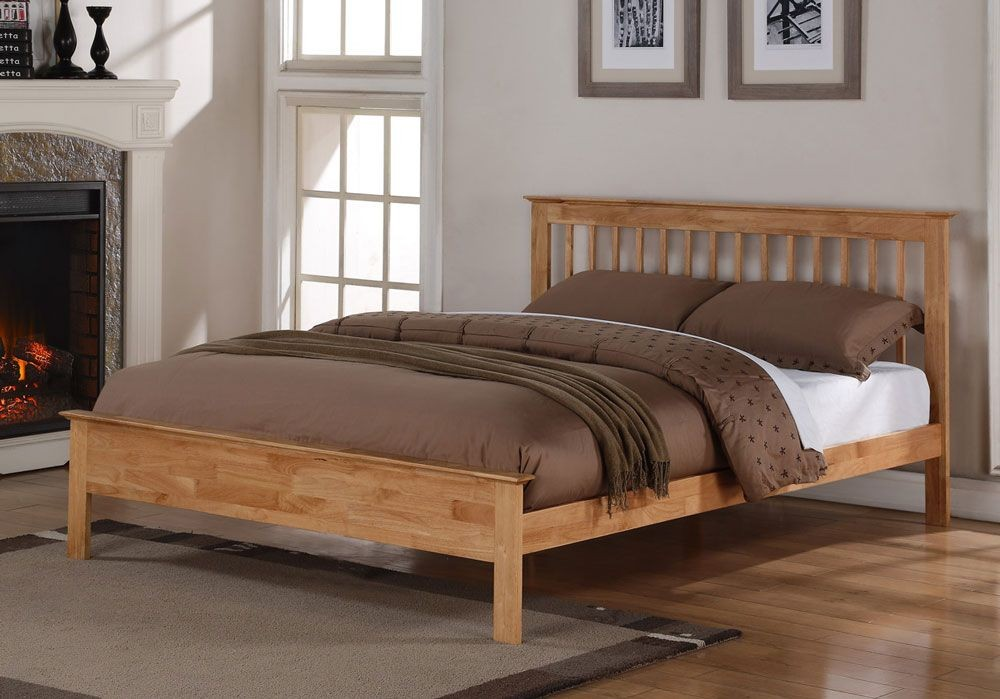 Petra Oak Double Bed Frame