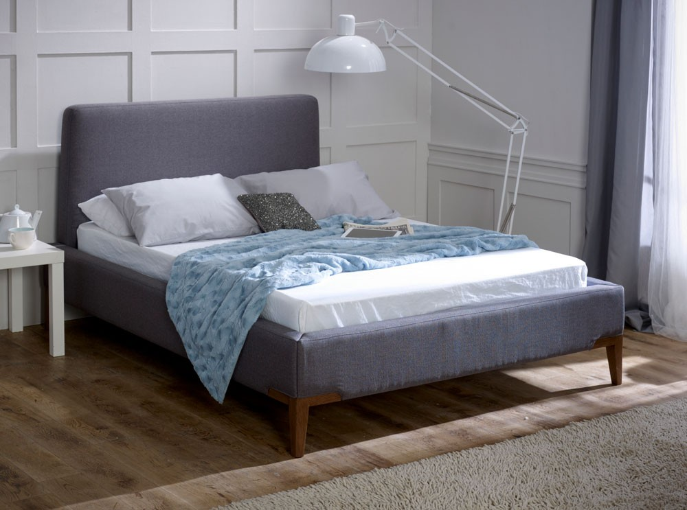Media Slate Grey Bed Frame