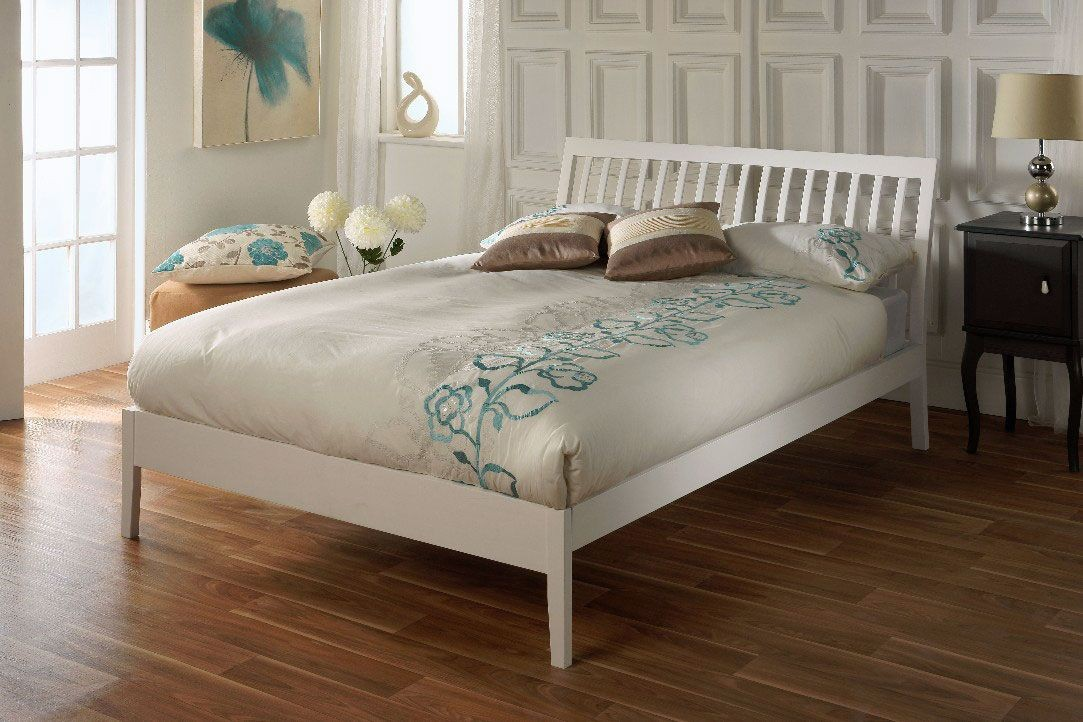 Nanke White Three Quarter Bed Frame