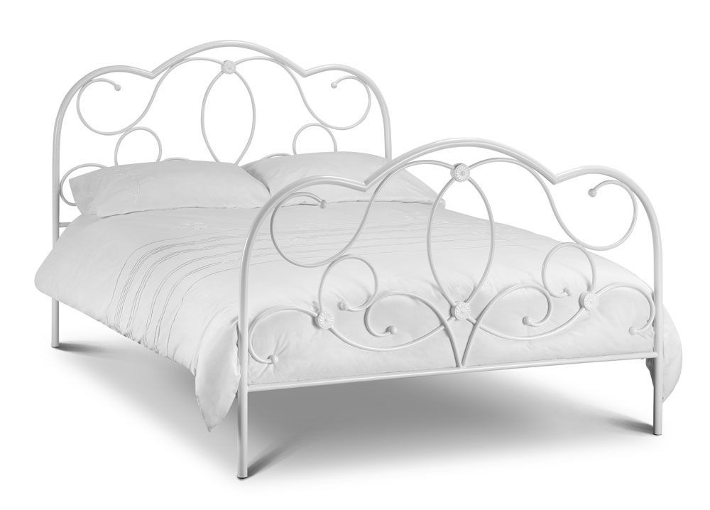 Bella Stone White Kingsize Bed Frame