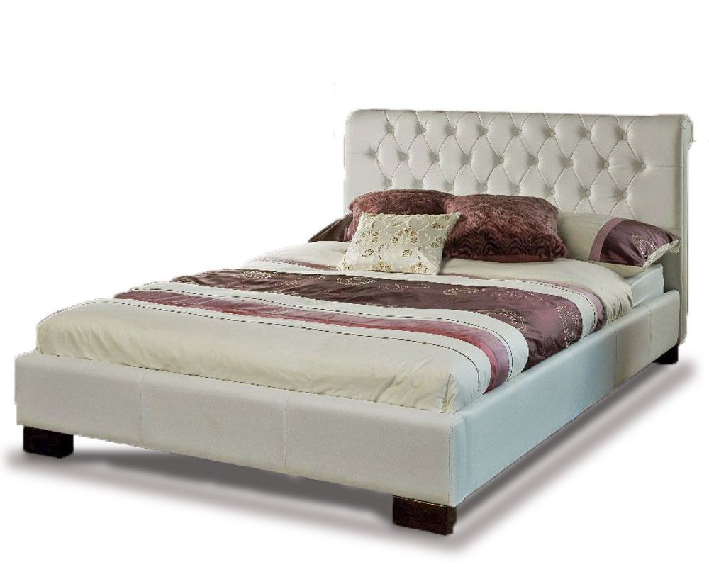 Ariel White Super Kingsize Bed Frame