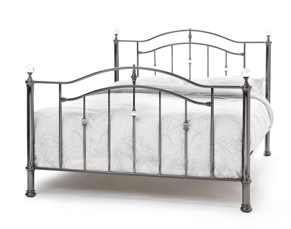 Ashleigh Black Nickel Double Bed Frame
