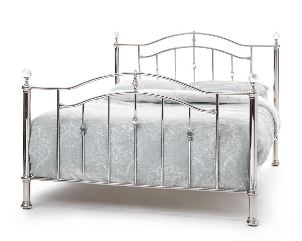 Ashleigh Nickel Kingsize Bed Frame