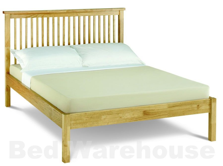 Bentley Designs Atlantis Natural Low Foot Double Bed Frame