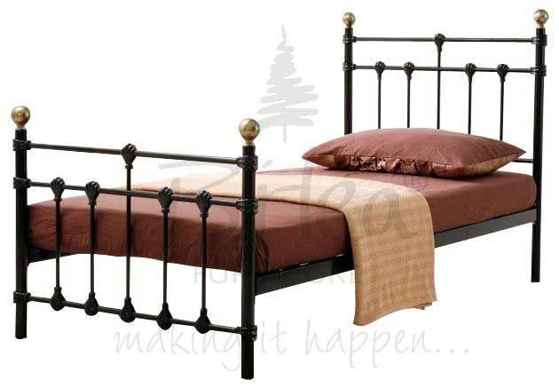 Atlas Black Single Bed Frame