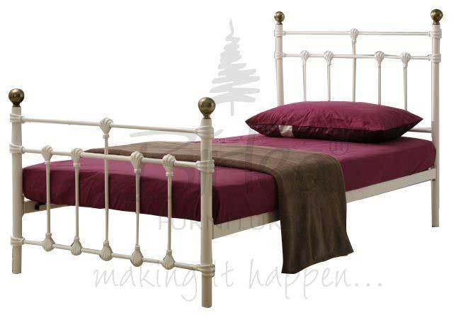 Atlas Cream Single Bed Frame