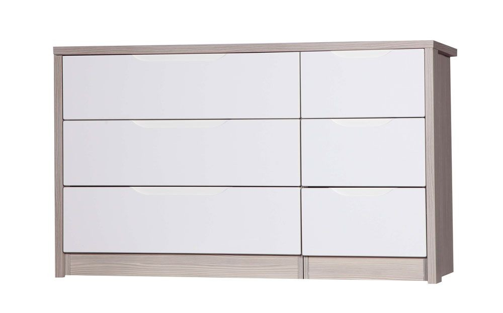 Avola Champagne With Cream Gloss 3 Drawer Double Chest