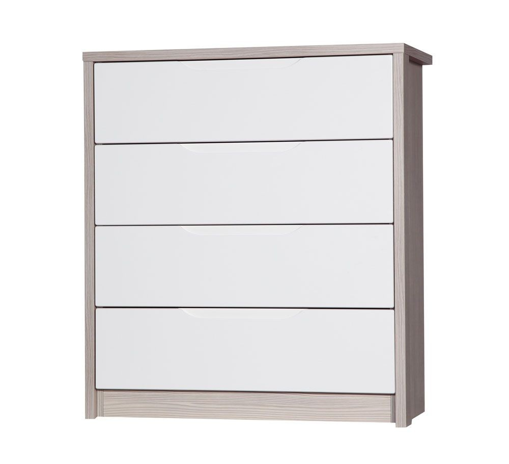 Avola Champagne With Cream Gloss 4 Drawer Wide Chest