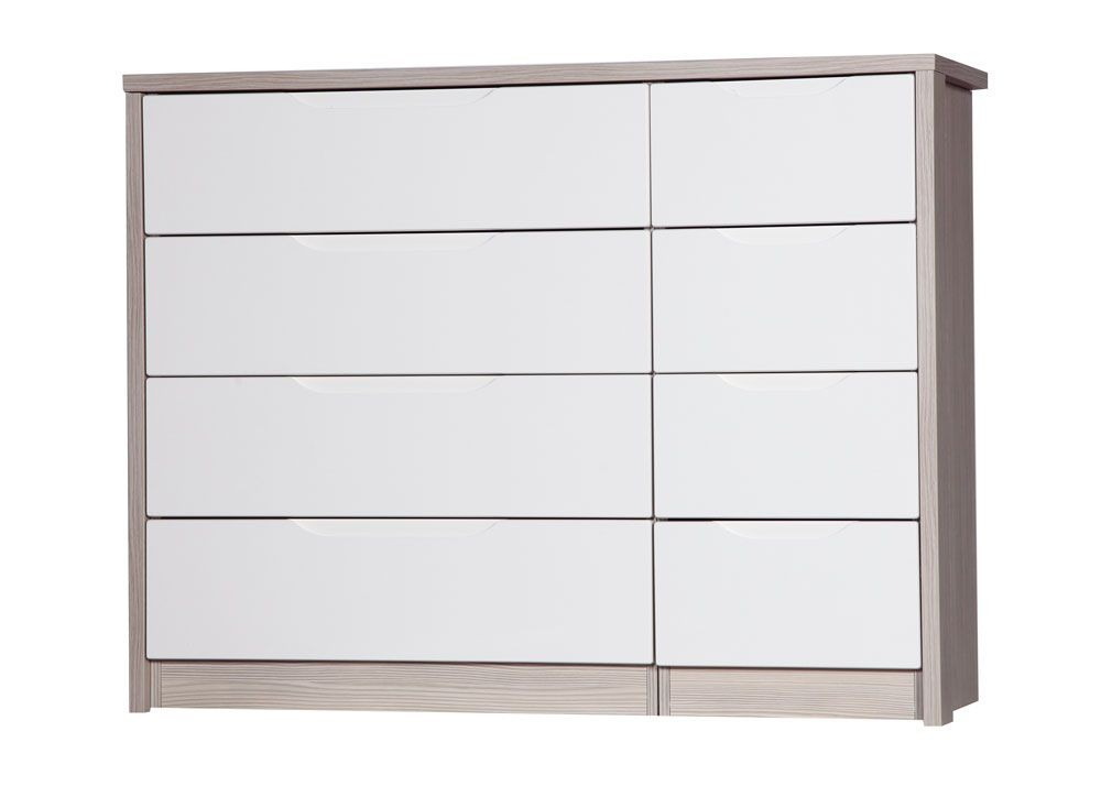Avola Champagne With Cream Gloss 4 Drawer Double Chest