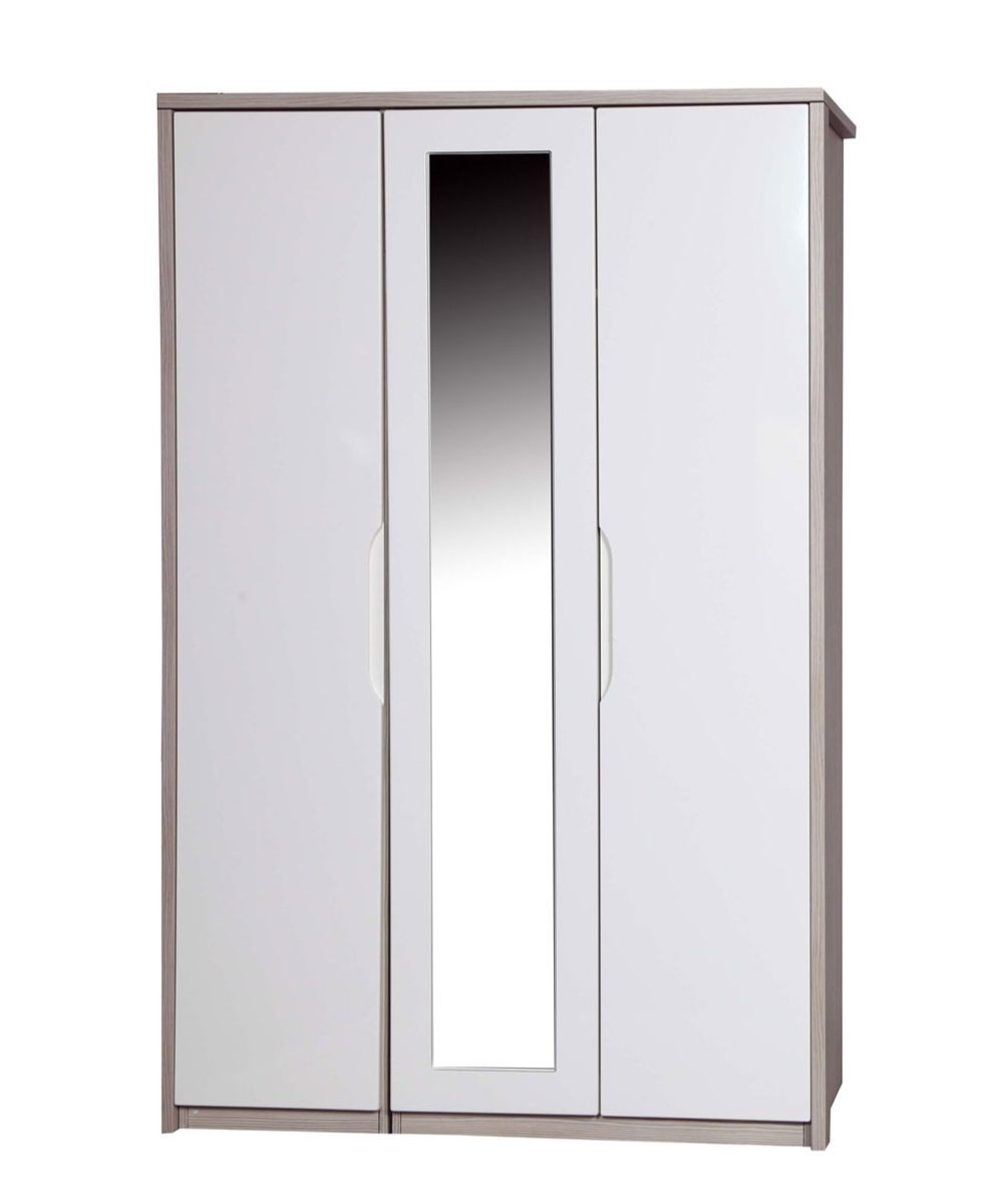 Avola Champagne With Cream Gloss 3 Door Robe With Mirror